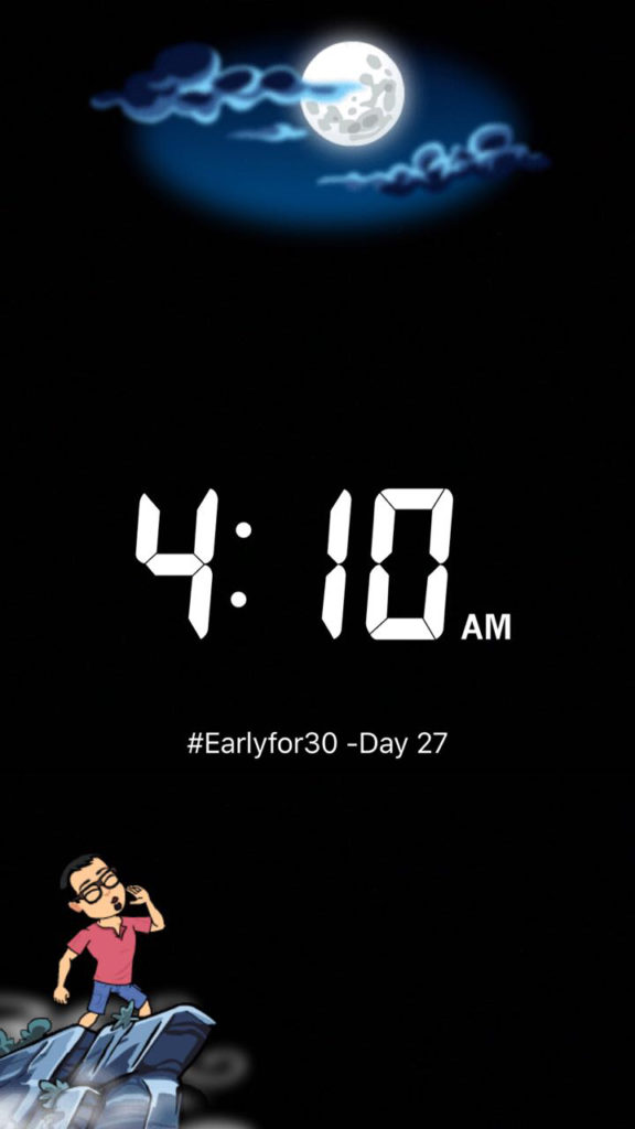 Wake up Early Challenge for Entrepreneur