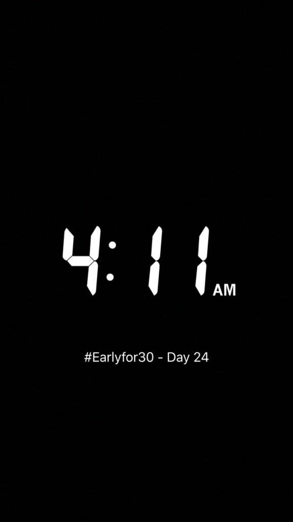 Woke up Early Challenge