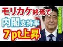 【安倍政権】モリカケ終焉で内閣支持率が大幅上昇の件について【パヨク発狂】の画像