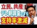 【立憲民主党】テレビ朝日の調査ですら支持率が激減の画像
