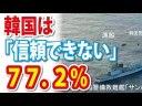 【世論調査】韓国は信頼できない、77.2%【産経新聞FNN】の画像