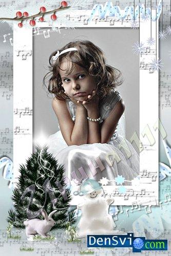 Рамка для фото - Зимняя музыка » Всё для Фотошопа - фоны ...