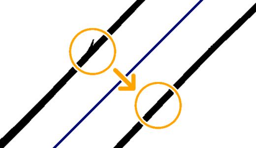 クリスタのベクター線の消し残り(短い線)を一瞬で消す方法はあります!!