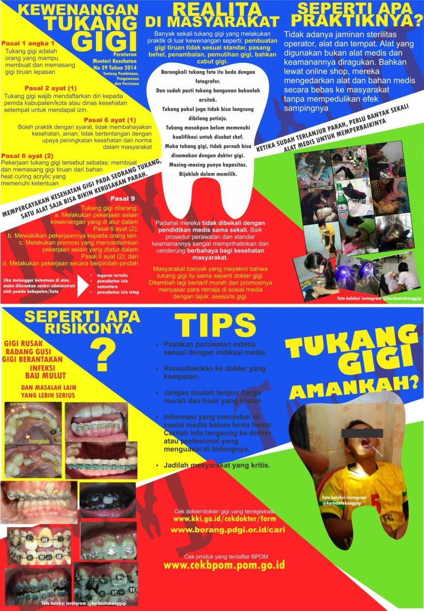 (Update ) Poster Edukasi Tukang Gigi + Link Cek Dokter Gigi DI Indonesia
