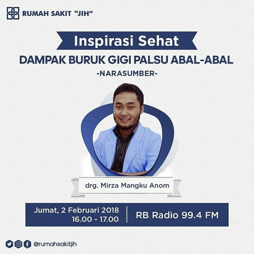 Gigi Palsu Abal-Abal Penyebab Kanker by : drg. Mirza Mangku Anom