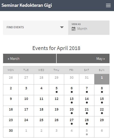 Jadwal Seminar Dokter Gigi April 2018