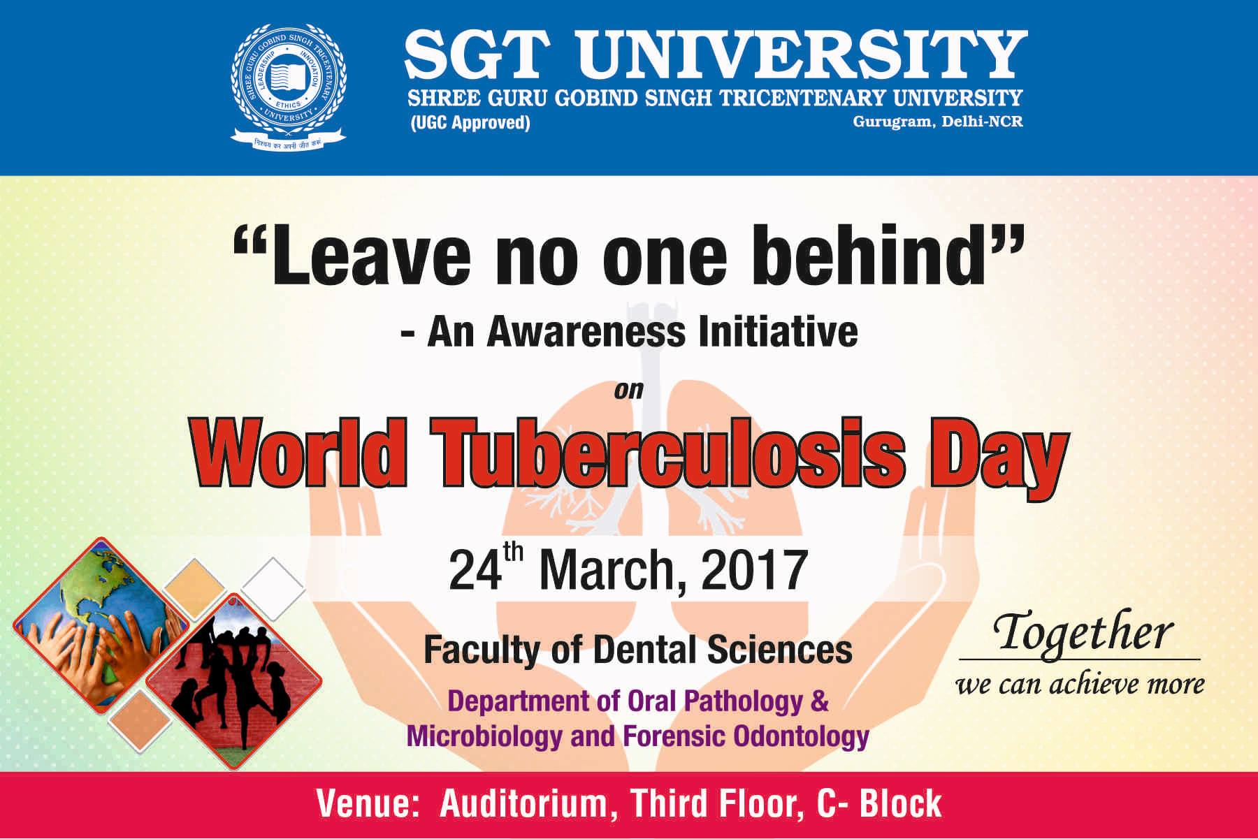 Banner- Guest lecture – Leave No One Behind – an awareness initiative on world TB day- 24th March