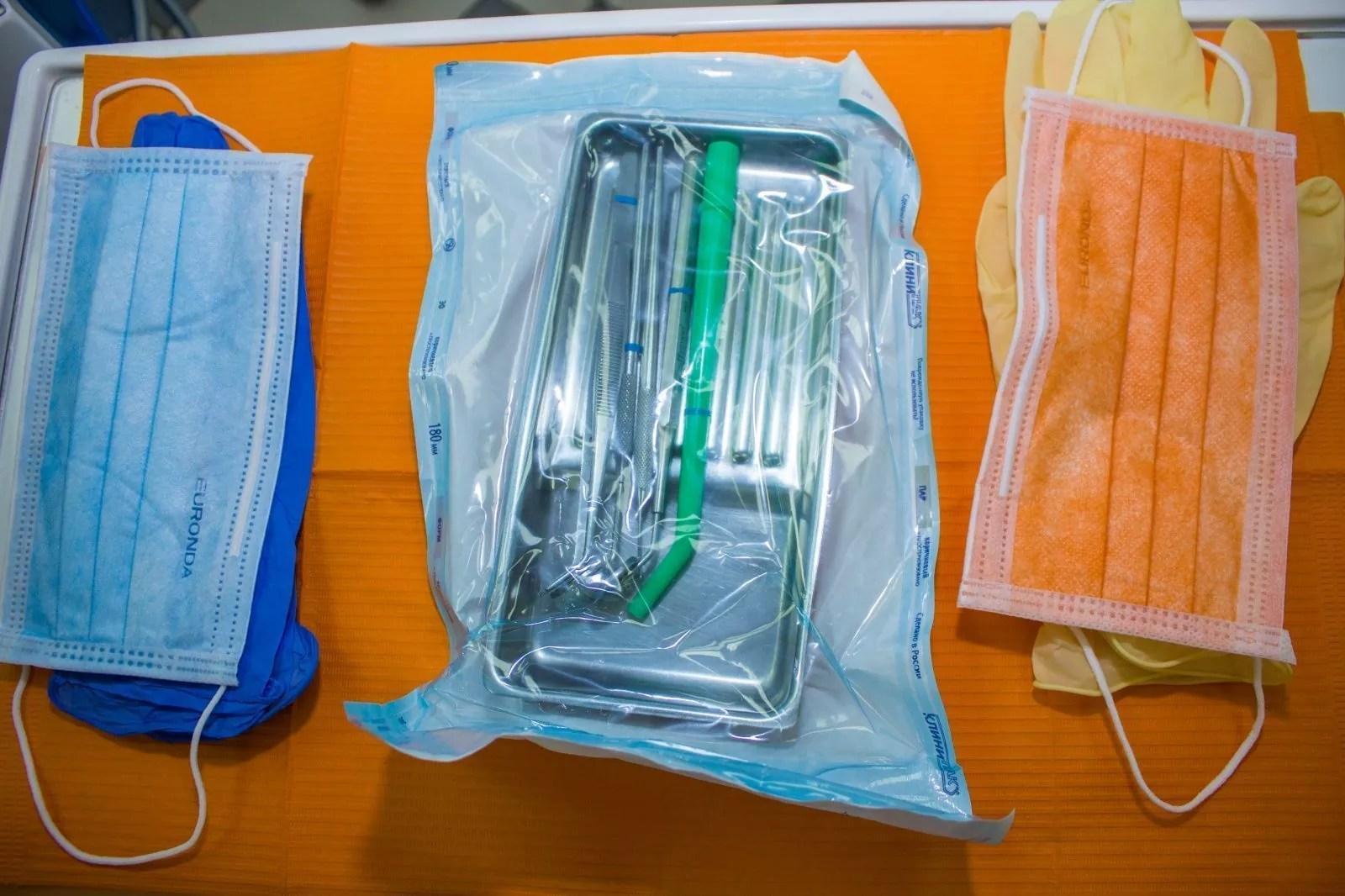 Инструменты в медицинской клинике