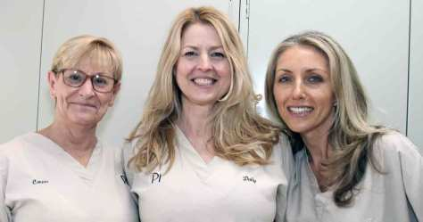 Dental hygienists at Pi Dental Center
