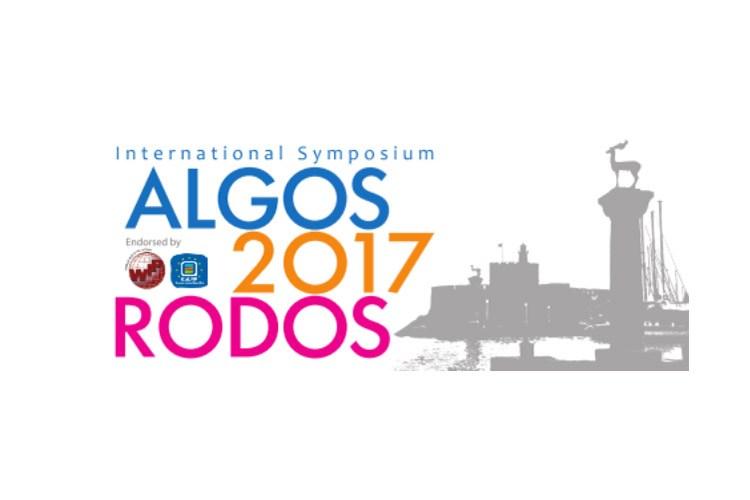 Award / International Symposium ALGOS 2017 RODOS 25-28 May 2017