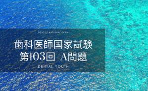 第103回 歯科医師国家試験:A問題