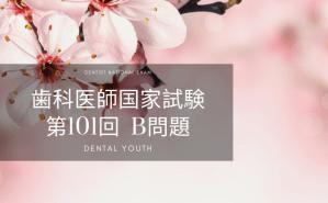 第101回 歯科医師国家試験:B問題