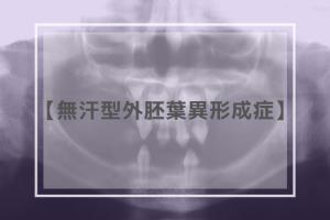 無汗型外胚葉異形成症