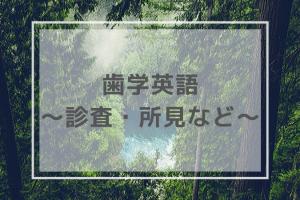 医学英語・診査・所見