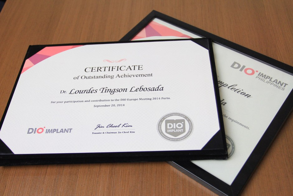 Dio Implant Certifications