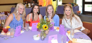 Dental hygiene students Kelsey Mahoney, Morgan Frith, Claire Goerner, Marissa Brown