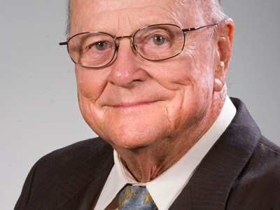 Dr. H. Eldon Attaway, 1954 alumnus and clinical associate professor in orthodontics