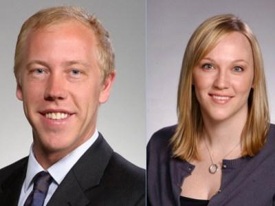 Dr. Ross Pulver '14 and Dr. Lauren Carney '12