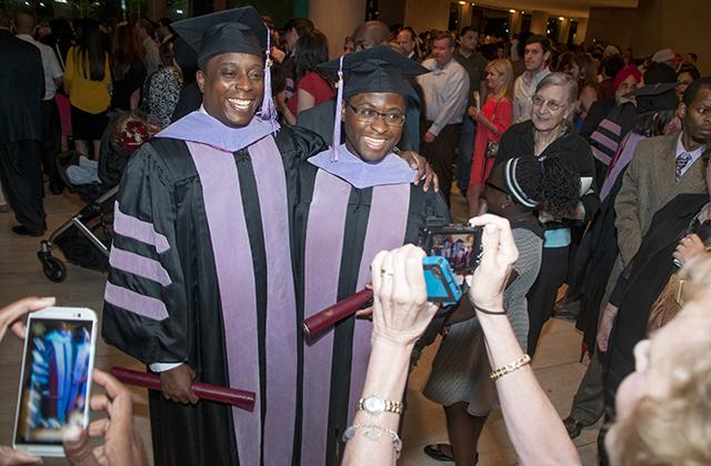 Kachepa, right, with TAMBCD classmate Dr. Igun Adetokunbo