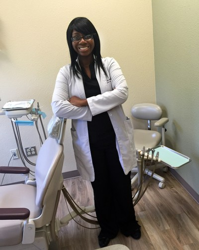 Dr. Patricia Adesanya in one of the operators at the Bastrop, Texas, clinic
