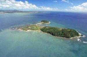 Aerial view of Cayo Santiago