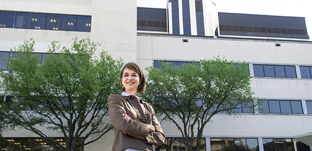 Melissa Ogden at the TAMBCD campus
