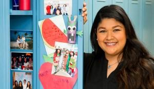 Photos of family members fill Dominique Salas-Garfias' locker at TAMBCD.