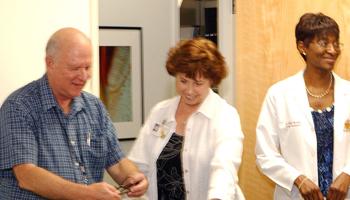 Dr. Williams enjoys his retirement party