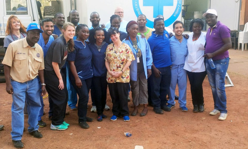 The mobile dental unit and team, including Rotary International, members of the Rotary clubs of Dallas and Kitwe, Copperbelt University School of Medicine, and Texas A&M College of Dentistry.