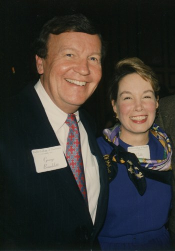 George and Pedie Bramblett at the college's 90th anniversary celebration in 1995.