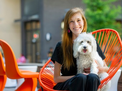 D4 Lauren Brubaker and her dog, Sophie.