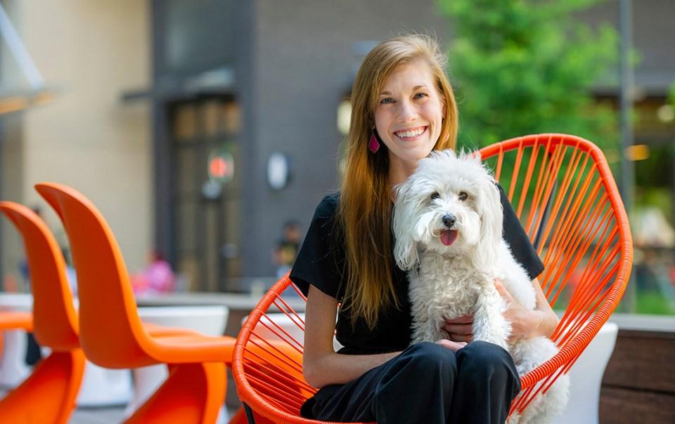 D4 Lauren Brubaker and her dog, Sophie.