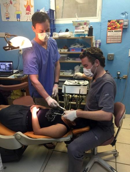 Dr. Jacob Bleyer treats a patient at Clinic Esperanza in Roatan, Honduras