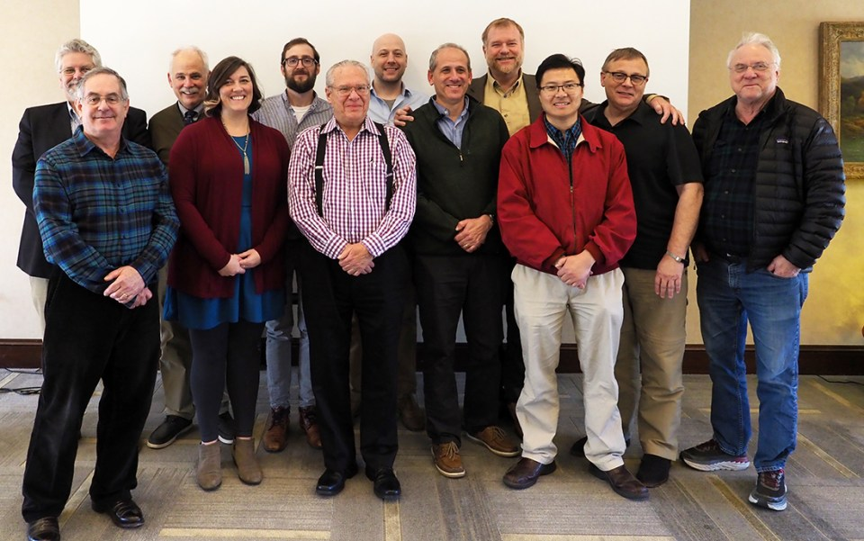 Back row, left to right: Mike Polcyn, Southern Methodist University; Dr. Bill Stenberg, Texas A&M College of Dentistry; Dr. Lucas Delezene, University of Arkansas; Dr. Matt Kesterke, A&M; Dr. Thomas Diekwisch, A&M; Dr. Paul Dechow, A&M; and Dr. Louis Jacobs, SMU. Front row, left to right: Dr. Emet Schneiderman, A&M; Dr. Claire Terhune, Arkansas; Dr. Jerry Rose, Arkansas; Dr. Peter Ungar, Arkansas; and Dr. Qian Wang, A&M.