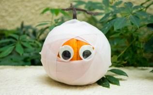 Pumpkin - carved like a mummy's head
