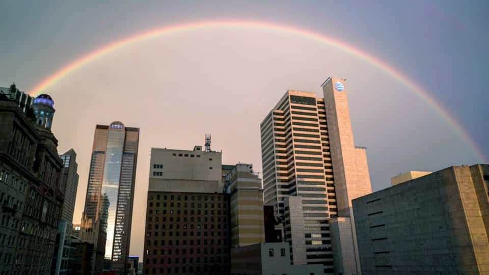 Downtown rainbow