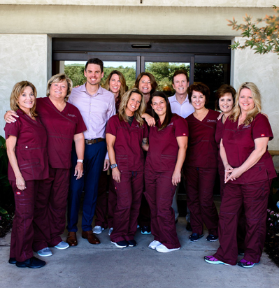 Dr. Aaron Crossley's Flower Mound staff