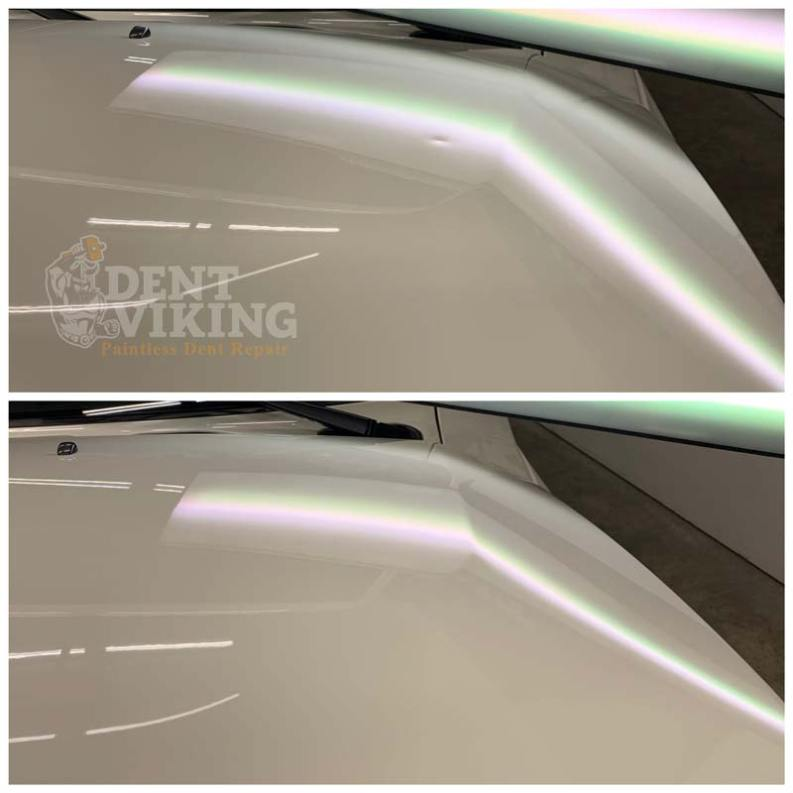 Paintless Dent Repair on Toyota FJ Cruiser Hood in Liberty Lake