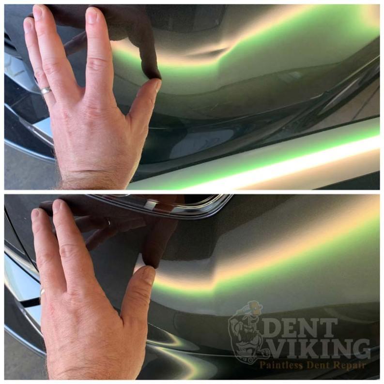 Paintless Dent Repair on Toyota RAV4 RRQ in Coeur dAlene