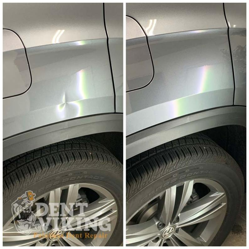 Paintless Dent Repair on Volkswagen Atlas Quarter Panel in Hayden