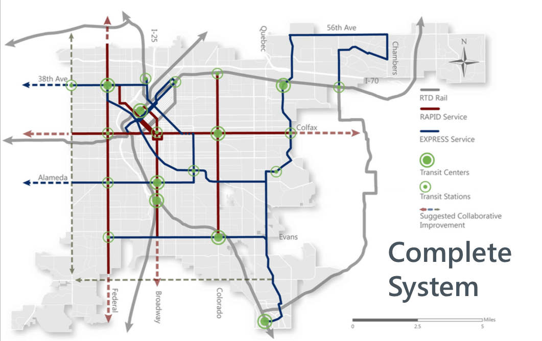 Cu denver lays the groundwork to fill the gaps in denvers transit another hypothetical version of denvers enhanced transit system image cu denver malvernweather Choice Image