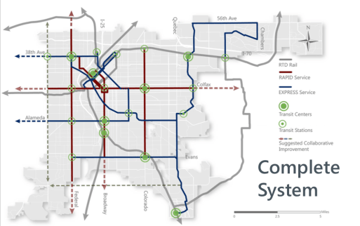 Another hypothetical version of CU Denver's enhanced transit system. (Image: CU Denver)