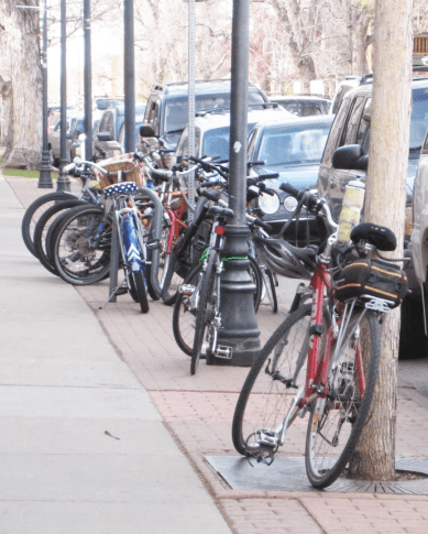 Parking for bikes doesn't have nearly as much play as parking for cars. Hopefully free racks will change that. (Image: DPW)