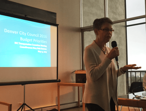 Councilwoman Susman spoke last night at the Inter-Neighborhood Connection meeting, making some pretty refreshing claims about Denver's complete streets and lack thereof.