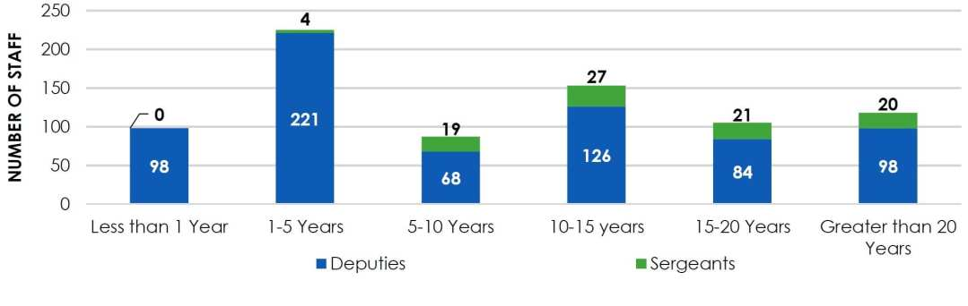 Chart C & N—Deputies and Sergeants by Length of Service