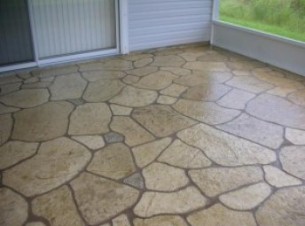 etched concrete patio