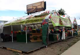 Taste of Chili stand by Invesco Field