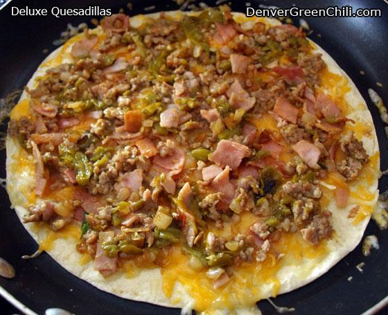 Ham, Sausage, and Cheese Quesadillas