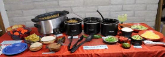 taco bar buffet table