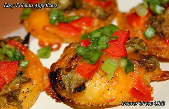 Easy Polenta Chile Appetizers
